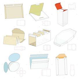 Векторные макеты коробочек сборник №11