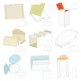 Vector layouts of boxes collection #11
