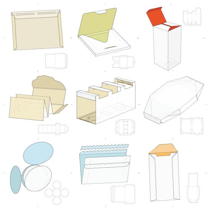 макеты упаковки, коробочка вектор, шаблоны коробок