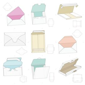Векторные макеты коробочек сборник №12