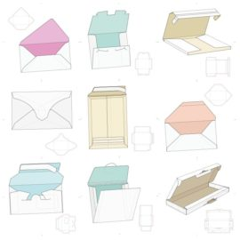 Vector layouts of boxes collection #12