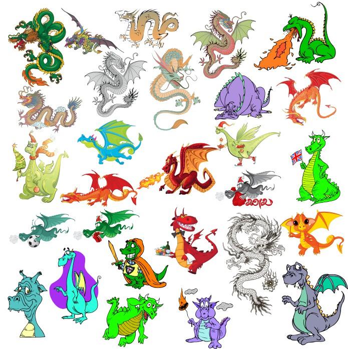 дракон в векторе