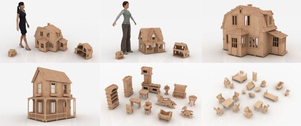 кукольный домик, кукольный домик своими руками, чертежи кукольного домика
