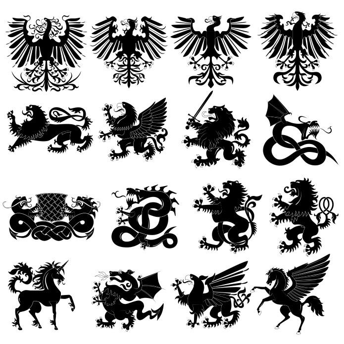 animalsl heraldry, heraldry animals