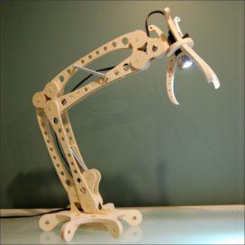 Настольная лампа из фанеры векторная схема