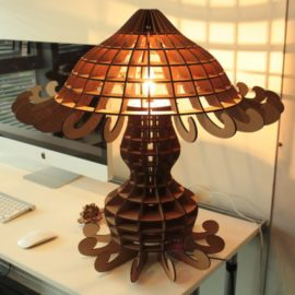 Векторный макет настольного торшера — «Медуза»