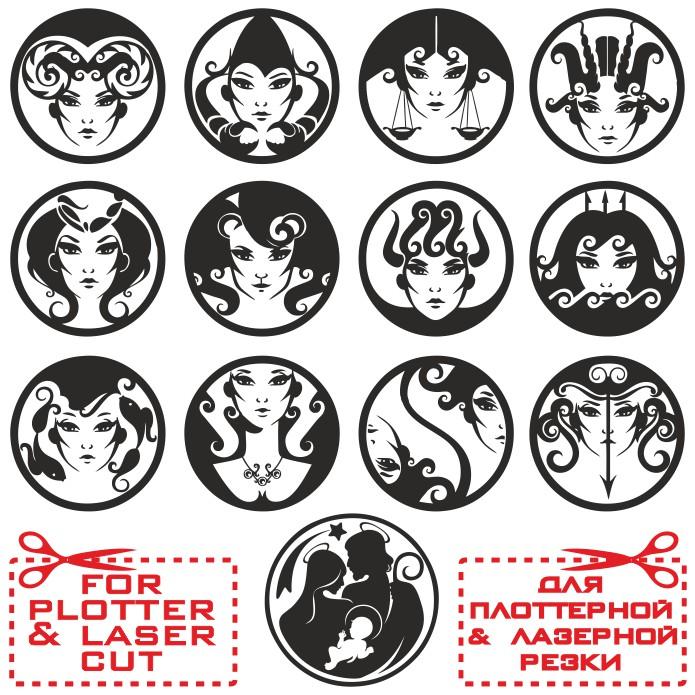 прикольные знаки зодиака, векторные знаки зодиака, зодиак вектор