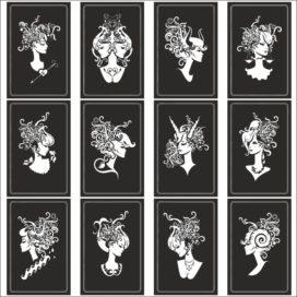 Знаки зодиака в виде женских бюстов