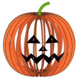 Абажур в виде тыквы для Хеллоуина