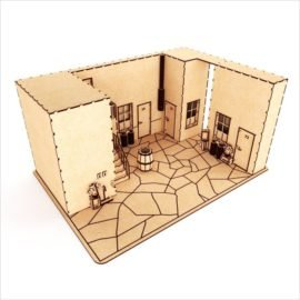 Макет кукольного домика — декорация для игры или мультфильмов