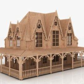 Макет кукольного домика — «Вилла»