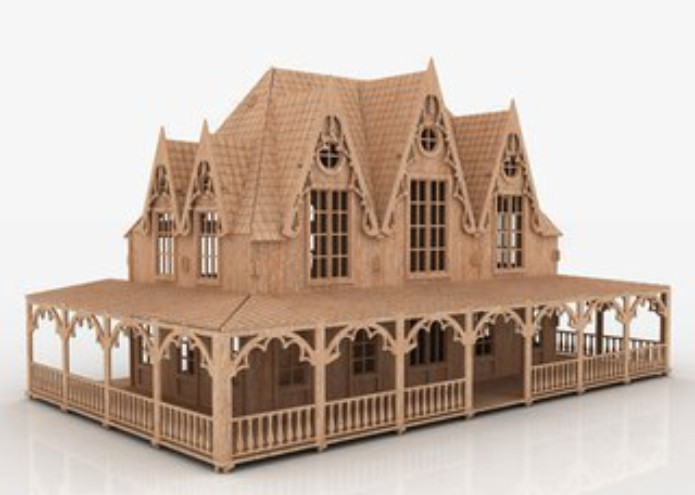 Dollhouse plans: files for laser cutting cdr, dxf, eps download free