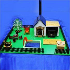 Макет для лазерной резки мини дом — копилка