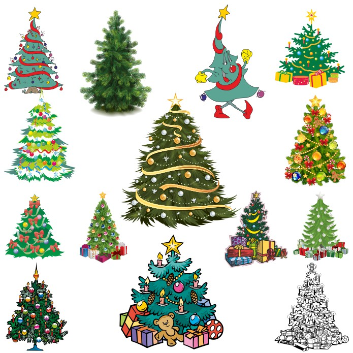 Christmas Tree Vector Download Free Vector Images Cdr Eps