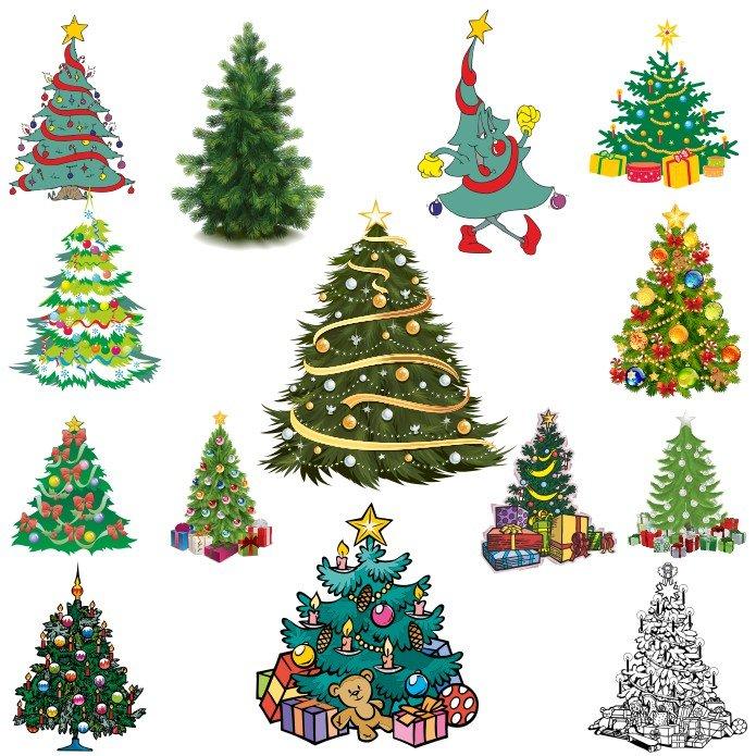 Новогодняя елка вектор скачать бесплатно