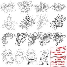 Рождественские картинки для плоттерной  резки