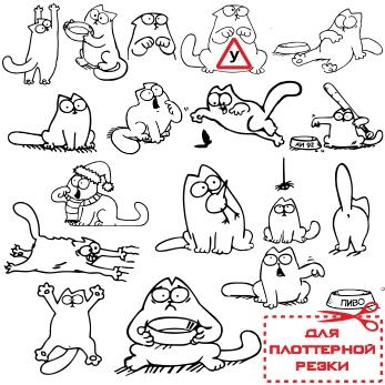 Кот саймона картинки в векторе для резки виниловых наклеек