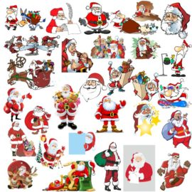 Santa Claus vector clipart for Christmas