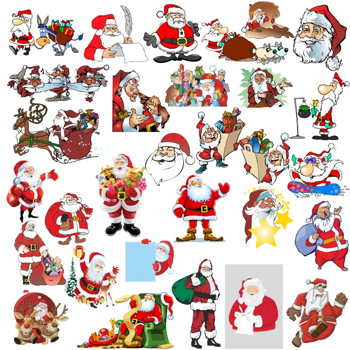 Download vector Santa Claus images