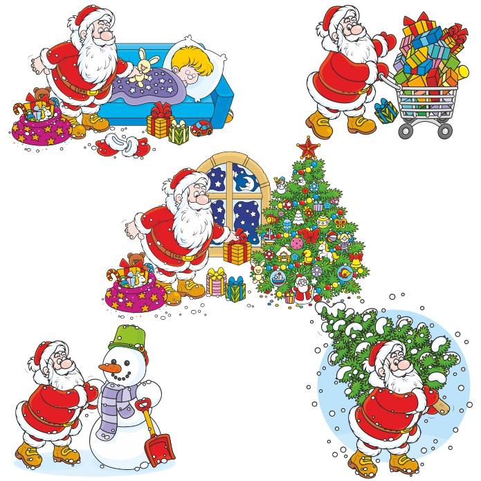 Санта Клаус векторный клипарт