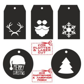 New year tags vector templates