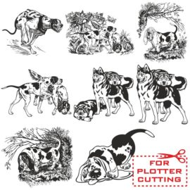 Vector image of dog for plotter cutting