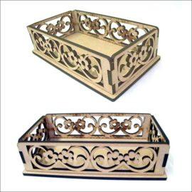 Простая корзинка — коробочка макет для лазерной резки