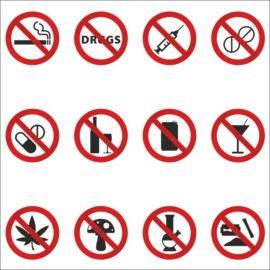 Знаки запрещающие наркотики. Часть №2