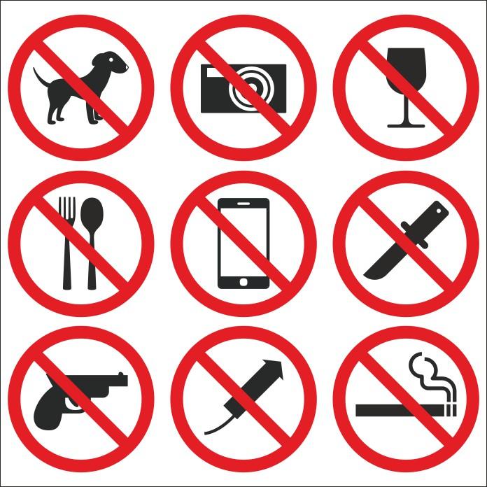 запрещающие знаки в векторе