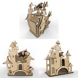 Чайный домик — Замок#2: Векторный макет для лазерной резки