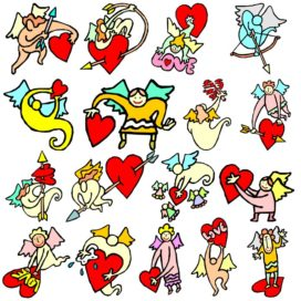 Прикольные векторные изображения ко дню святого Валентина. Часть №2