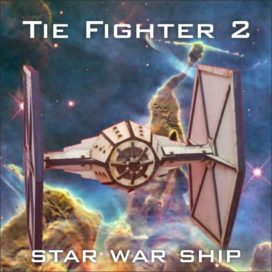 Сборная модель корабля Tie Fighter-2 из «Звездных войн».