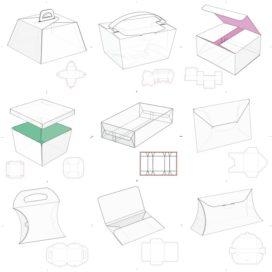 Векторные макеты коробочек сборник №14