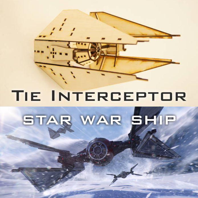 Tie Interceptor макет звездолета из звездных войн скачать бесплатно