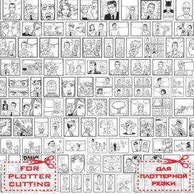 Черно белый микс № 005: Заготовки и шаблоны для комиксов