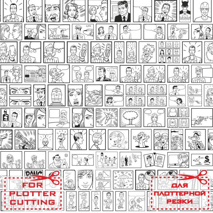 Шаблоны для комиксов, векторные заготовки для комиксов скачать cdr