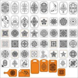 Узоры для гравировки на деревянных разделочных досках