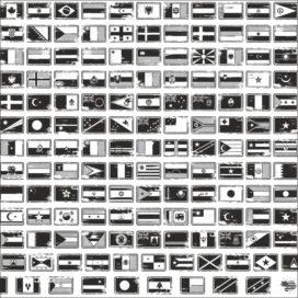 Флаги в векторе: векторные флаги всех стран мира черно белый клипарт