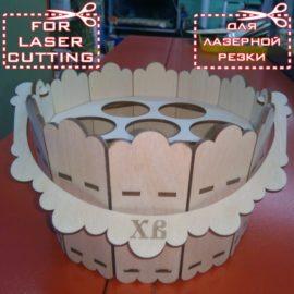 Пасхальное ведерко: Макет для лазерной резки фанеры