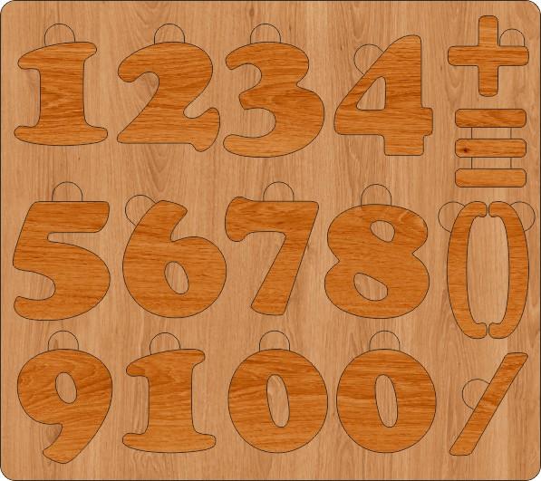 цифры пазлы для детей скачать макет