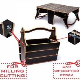 Раскладной стол — корзинка для пикника