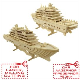 Liner 3D constructor from plywood: drawing for milling cutting