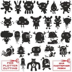 Монстр Микс векторные изображения добрых монстров