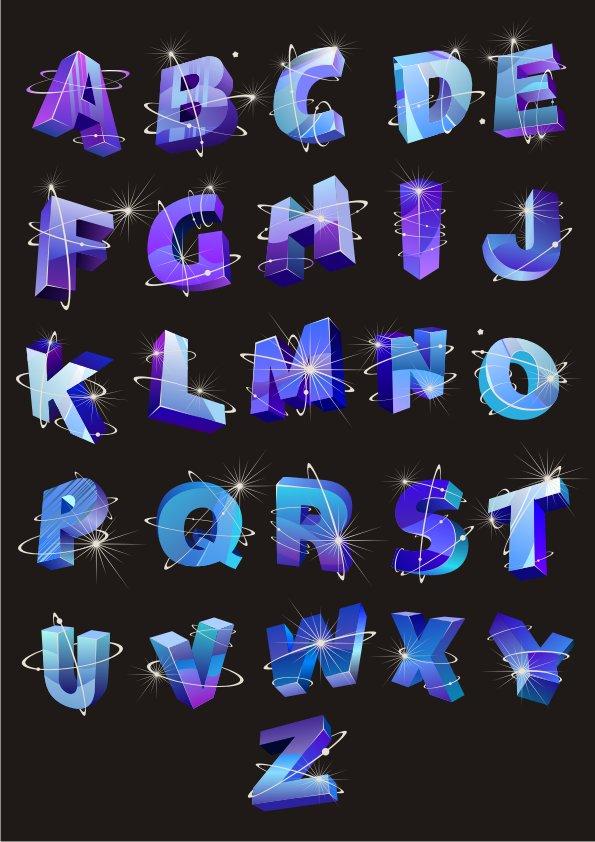vector alphabet, Beautiful letters