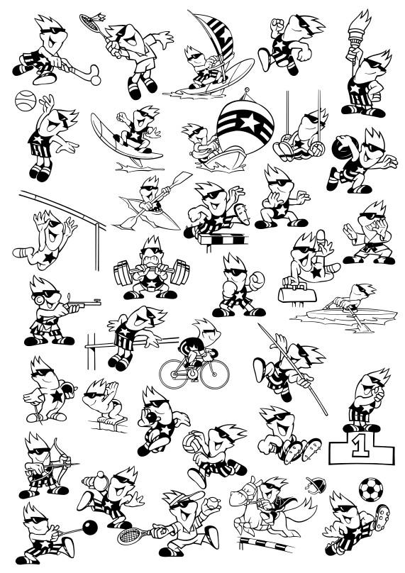 картинки на тему олимпийские игры, спортивный клипарт, спорт в векторе, картинки для плоттерной резки