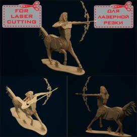 3D конструктор из фанеры чертеж «Кентавр» скачать бесплатно