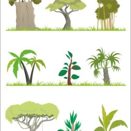 Vector trees collection # 001