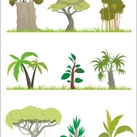 Векторные деревья коллекция №001