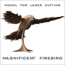 3d model for laser cutting: Phoenix Bird free download