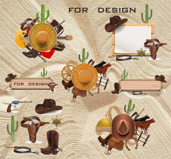 Wild west vector, color vector